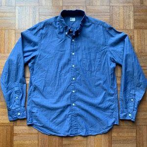 Men's J. Crew Blue Button Down Oxford Shirt, L